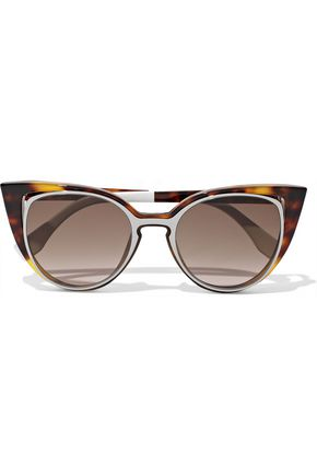 FENDI Cat-eye cutout acetate sunglasses