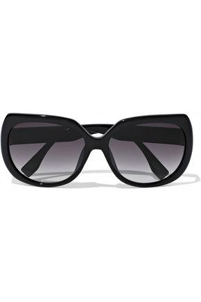 FENDI D-frame crystal-embellished acetate sunglasses
