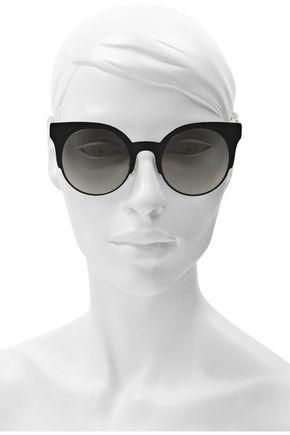 Fendi Woman Cat-Eye Acetate Sunglasses Black