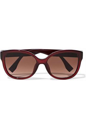FENDI Cat-eye crystal-embellished acetate sunglasses