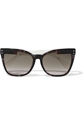 FENDI Cat-eye tortoiseshell acetate sunglasses