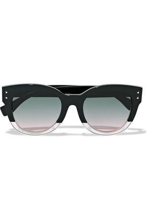 FENDI D-frame two-tone acetate sunglasses