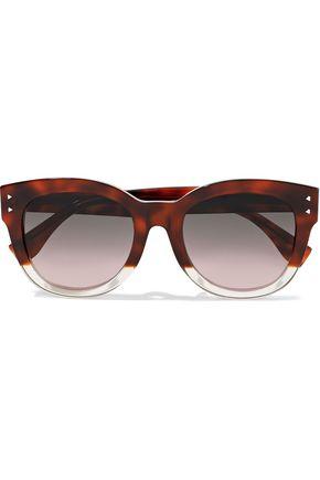 FENDI D-frame dégradé tortoiseshell acetate sunglasses
