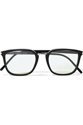 SAINT LAURENT Combi square-frame acetate optical glasses