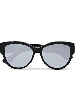 SAINT LAURENT M3 cat-eye acetate mirrored sunglasses