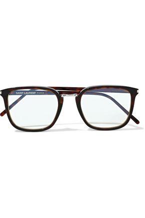 ec52b73f4 SAINT LAURENT Square-frame tortoiseshell acetate optical glasses