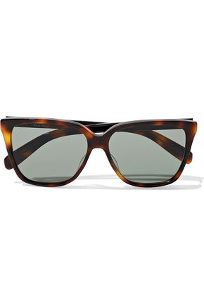SAINT LAURENT Avana square-frame tortoiseshell acetate sunglasses