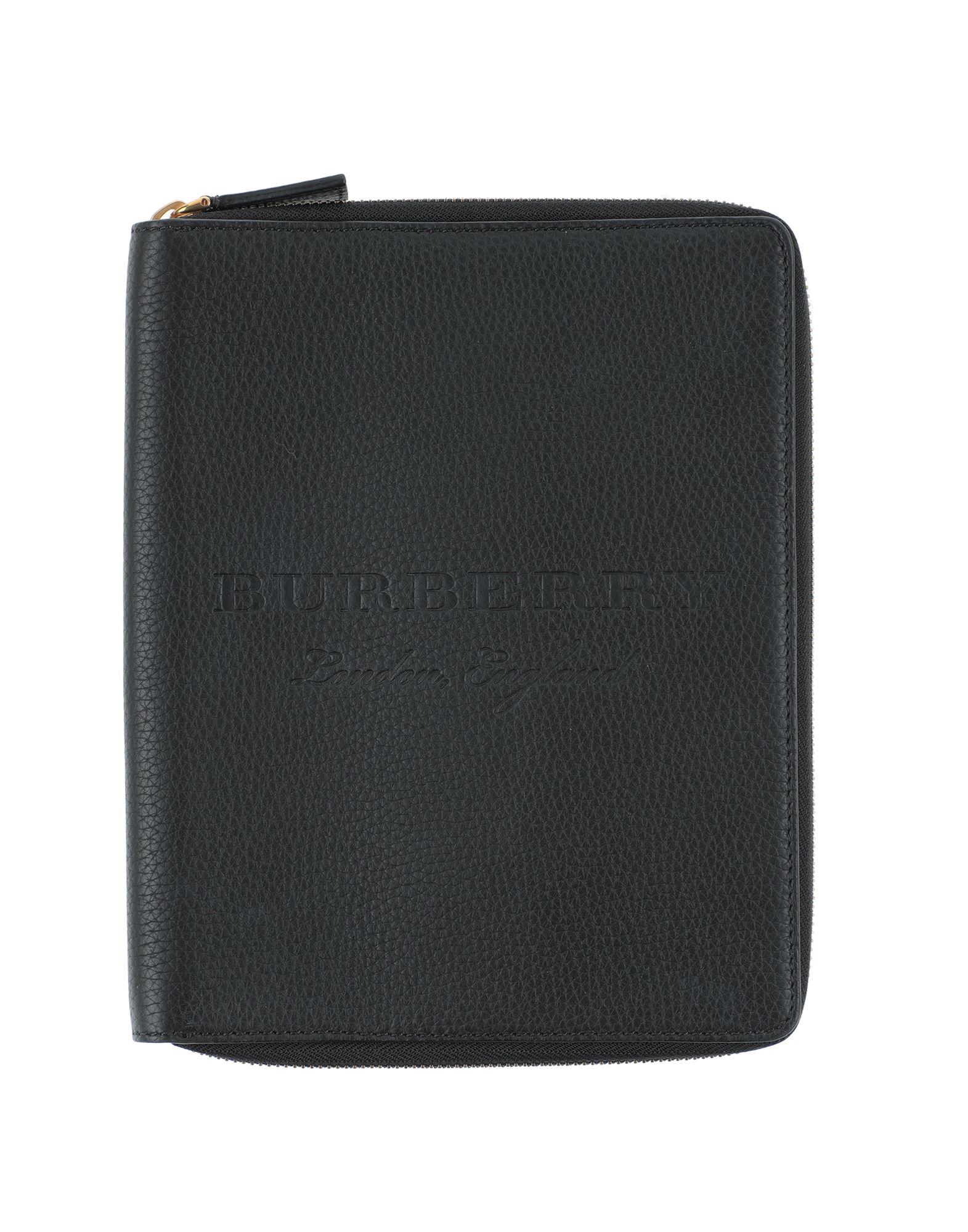 《セール開催中》BURBERRY レディース 手帳カバー ブラック 牛革(カーフ)