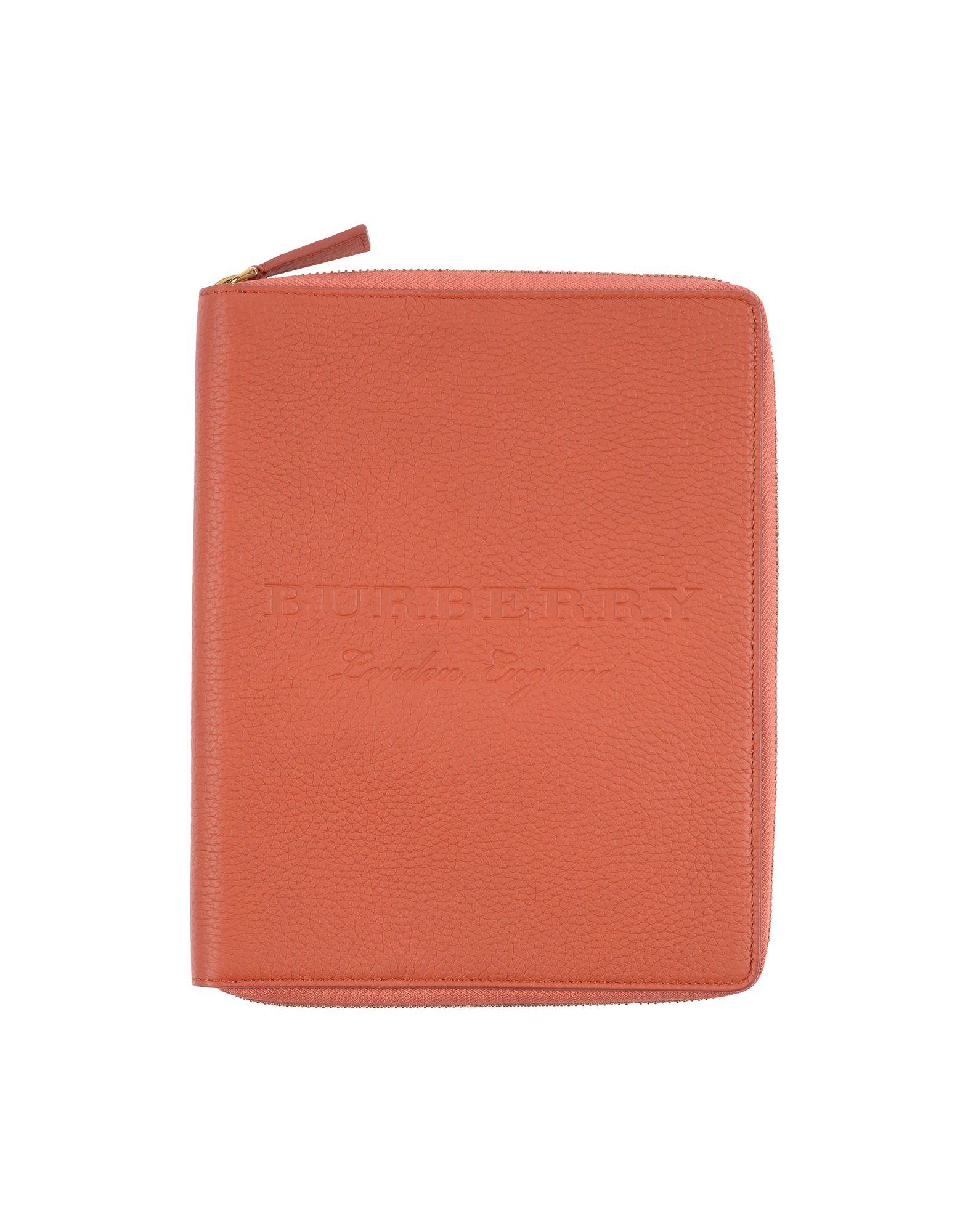 YOOX.COM(ユークス)《期間限定セール中》BURBERRY レディース 手帳カバー オレンジ 牛革(カーフ)