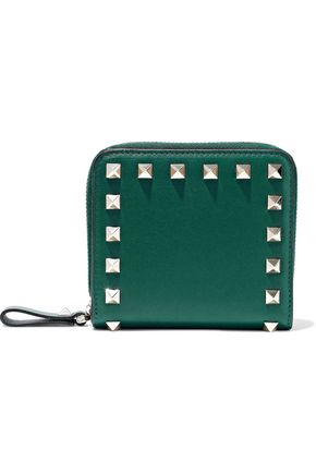 Rockstud Leather Wallet by Valentino Garavani
