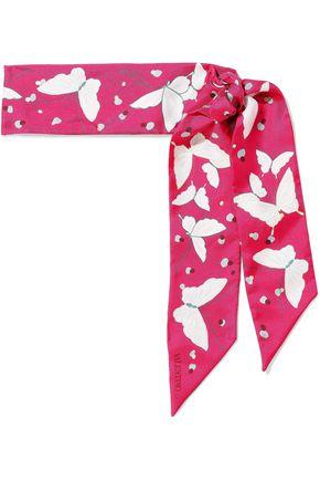 VALENTINO GARAVANI プリント シルクツイル スカーフ