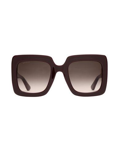 Фото 2 - Солнечные очки красно-коричневого цвета