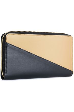 MARNI Two-tone leather continental wallet