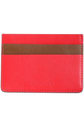 MARNI Two-tone leather cardholder