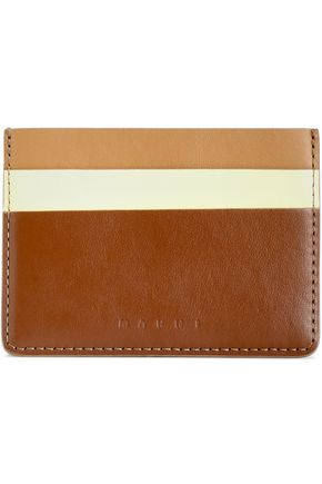 MARNI Color-block leather cardholder