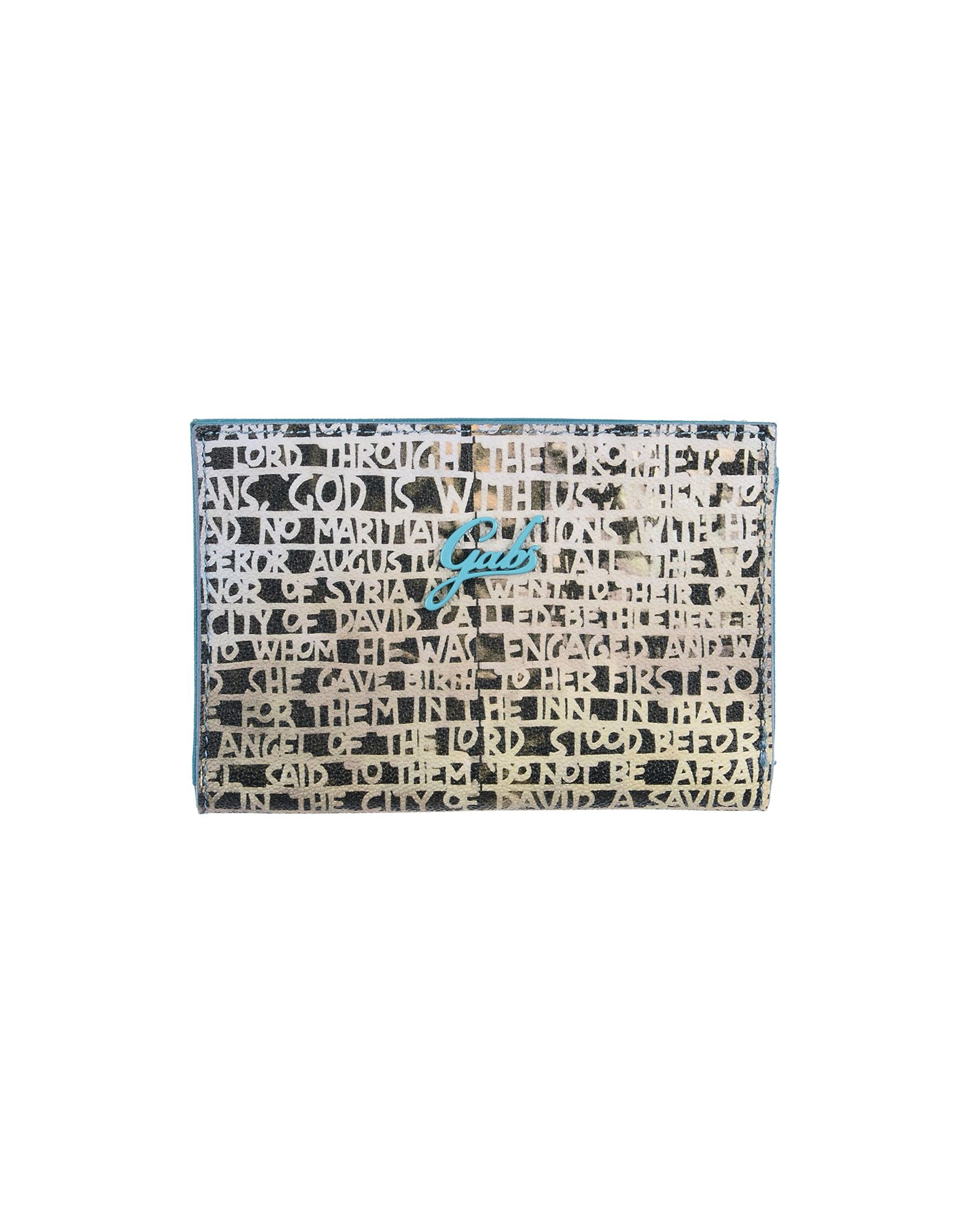 GABS Бумажник г жа йорк orchid nucelle короткий бумажник вскользь кожаный бумажник кошелек рука кошелек 425 дикий синий утренний туман