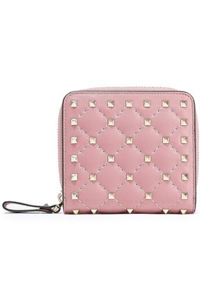 VALENTINO GARAVANI Rockstud Spike quilted leather wallet