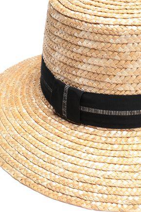 EUGENIA KIM Stevie grosgrain-trimmed woven straw hat