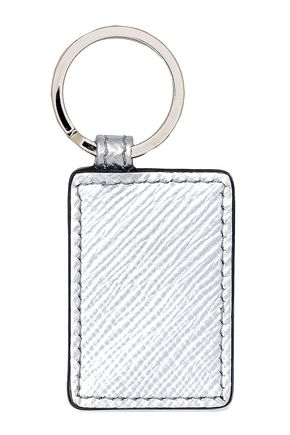 SMYTHSON Panama metallic leather keychain