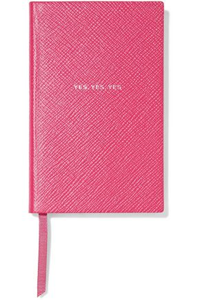 SMYTHSON Yes Yes Yes Panama printed textured-leather notebook