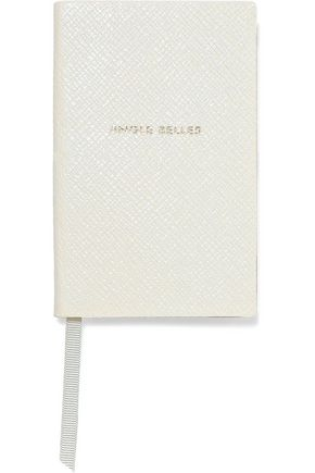 SMYTHSON Jingle Belles textured-leather notebook