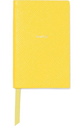 SMYTHSON Smile textured-leather notebook