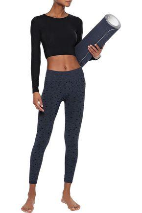 PEPPER & MAYNE Celeste cropped stretch-jacquard leggings