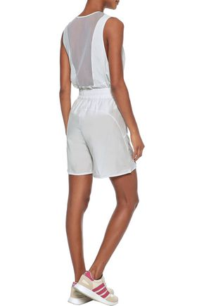 G. LABEL Easy mesh-paneled perforated jersey tank