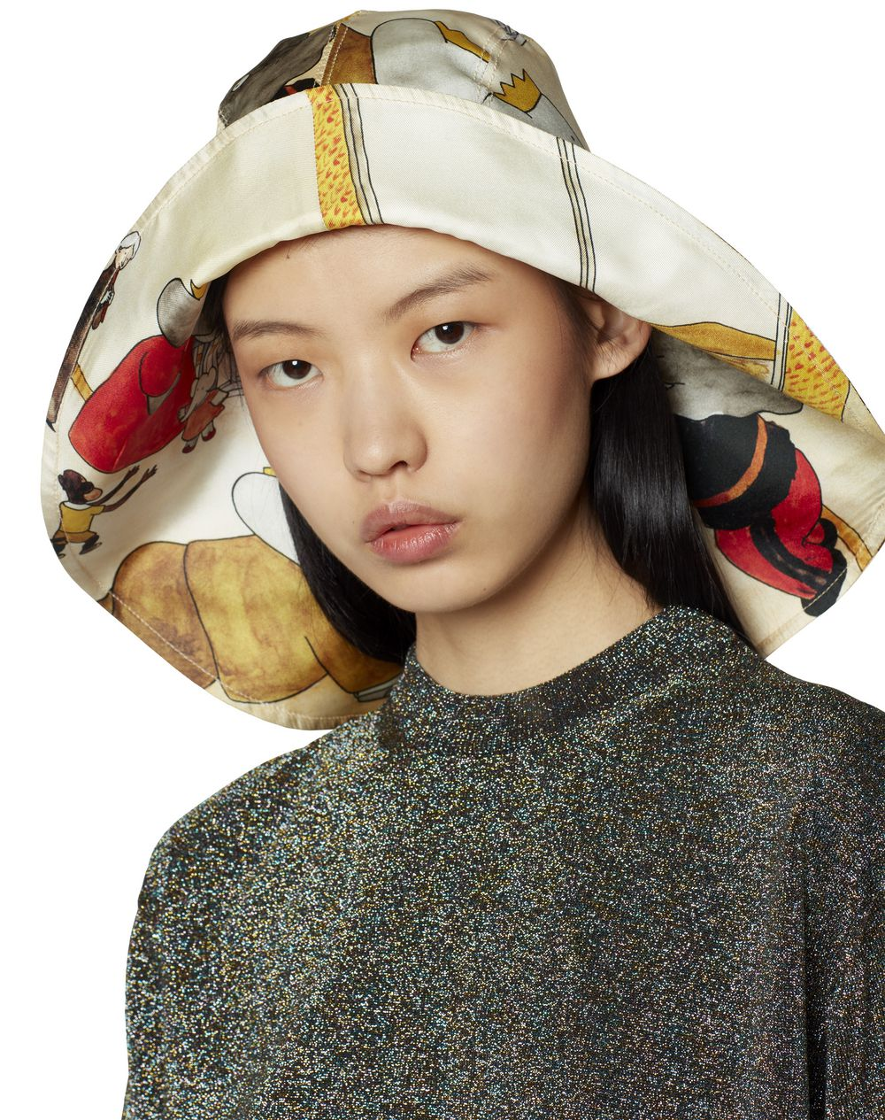 SAILOR'S HAT IN PRINTED TWILL - Lanvin