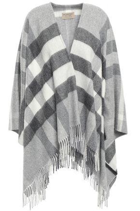 BURBERRY Fringe-trimmed cashmere wrap