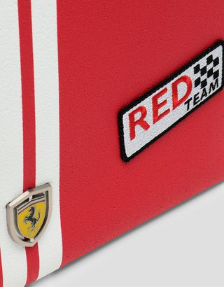 Scuderia Ferrari Online Store - Made in Italy Freccia Livrea envelope bag in Asfaltino - Pouches & Envelopes