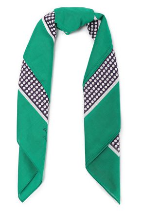 BURBERRY Printed cotton scarf