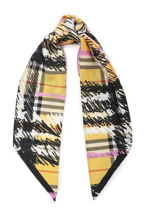 BURBERRY プリント シルクツイル スカーフ