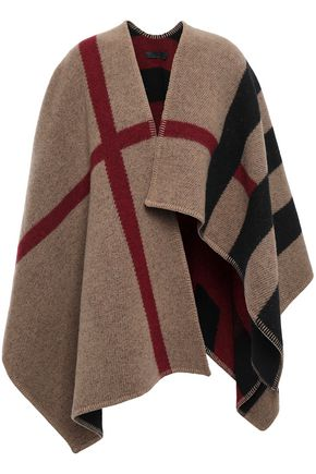 BURBERRY Wool and cashmere-blend wrap