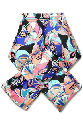 EMILIO PUCCI Quilted printed silk-twill scarf