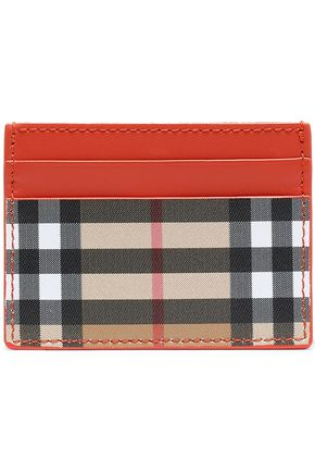 BURBERRY Checked leather cardholder