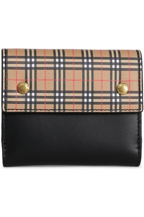 BURBERRY Studded checked leather wallet