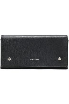 BURBERRY Studded textured-leather continental wallet