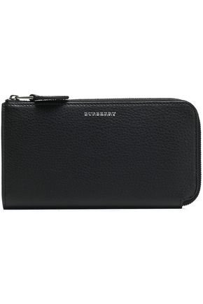 BURBERRY Textured-leather wallet
