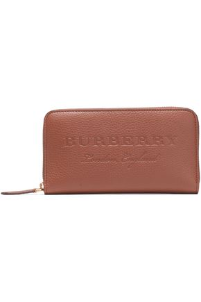 BURBERRY Embossed pebbled-leather continental wallet