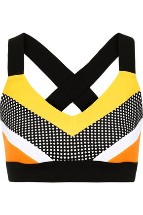 NO KA 'OI Huli Ola perforated color-block stretch sports bra