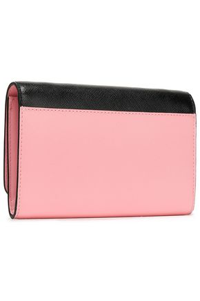 MARC JACOBS Snapshot logo-embellished two-tone textured-leather wallet
