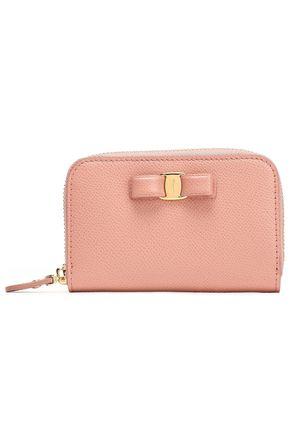 SALVATORE FERRAGAMO Vara bow-embellished pebbled-leather wallet