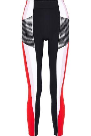 NO KA 'OI Huli Palua perforated color-block stretch leggings