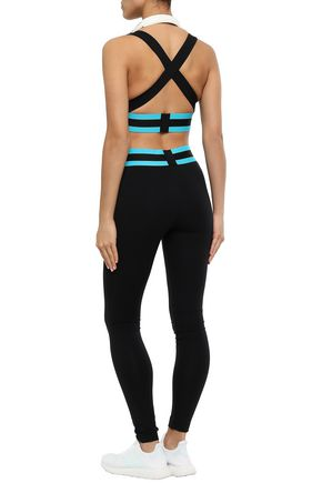 NO KA 'OI Striped stretch leggings