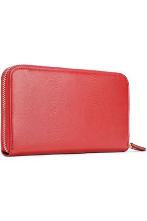 SALVATORE FERRAGAMO Textured-leather continental wallet