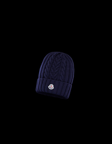 HAT Dark blue Category BEANIES Woman