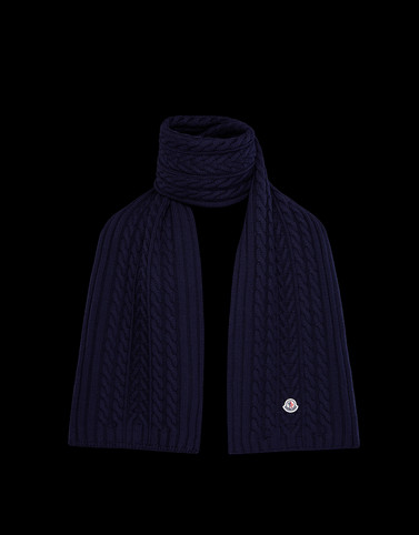 SCARF Dark blue Scarves & Gloves