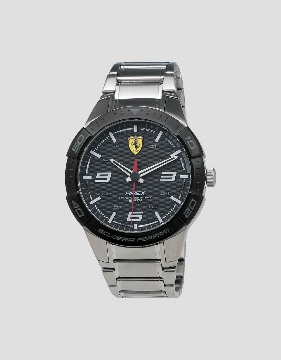 Scuderia Ferrari Online Store - Apex steel watch with black dial - Quartz Watches