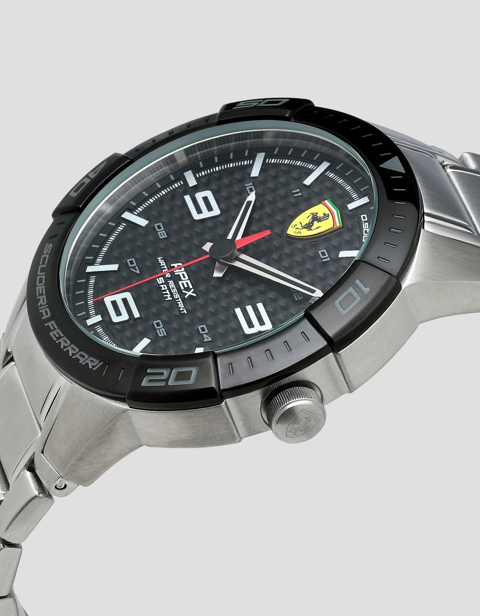 Scuderia Ferrari Online Store - Apex steel watch with black dial -